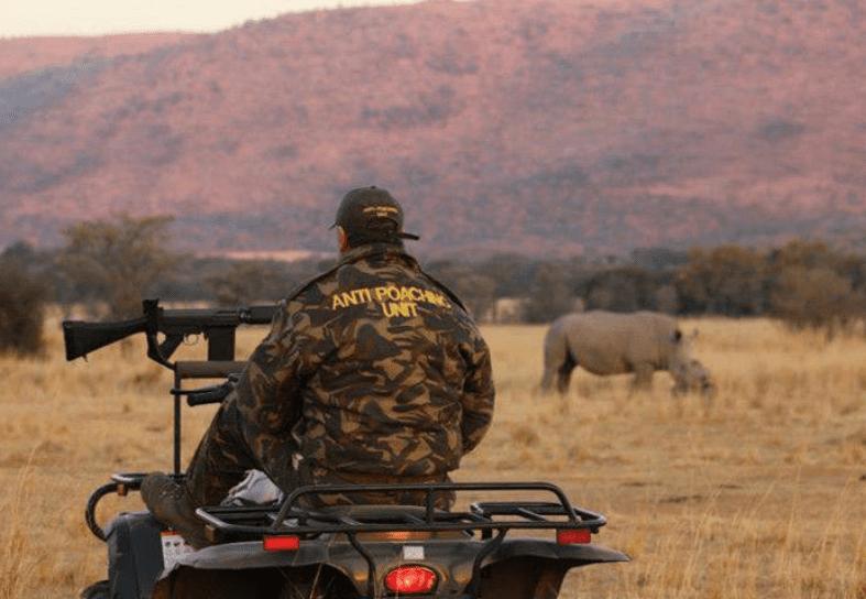 On patrol with anti-poaching unit