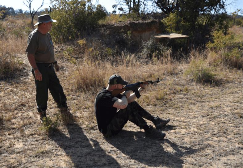 Anti-poaching course weapons training