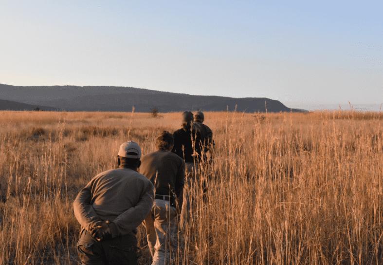 students on anti-poaching patrol