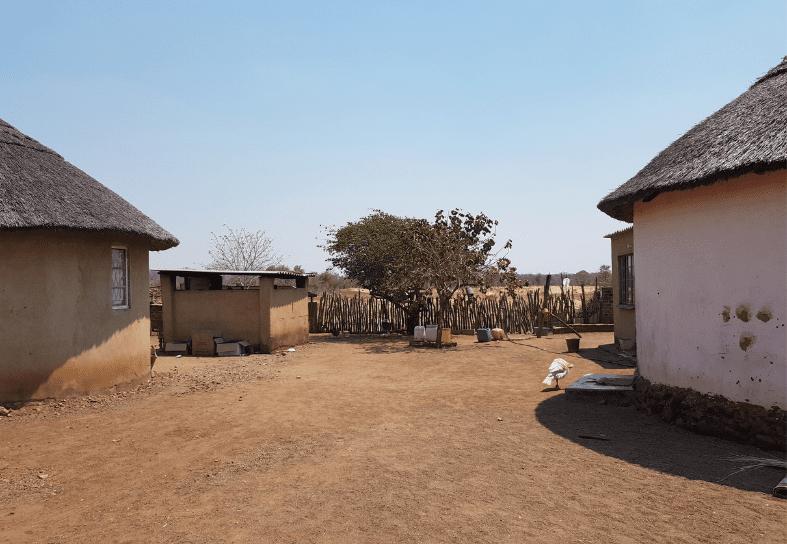 Rural village showing houses