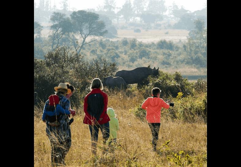 family volunteers in Zimbabwe