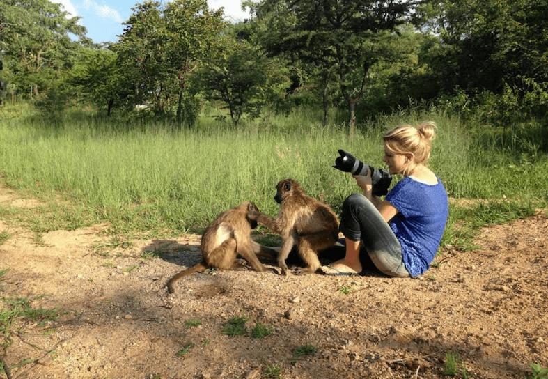 Family-volunteering-baboon-photo