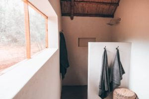 En-suite bathroom at wilderness camp