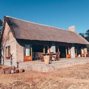 Front shot of verandah at the main building of wilderness camp