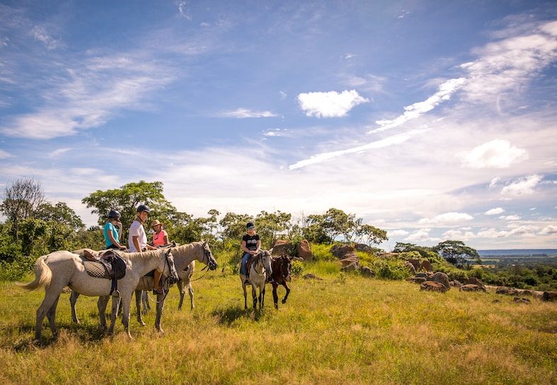 Horse riding volunteers