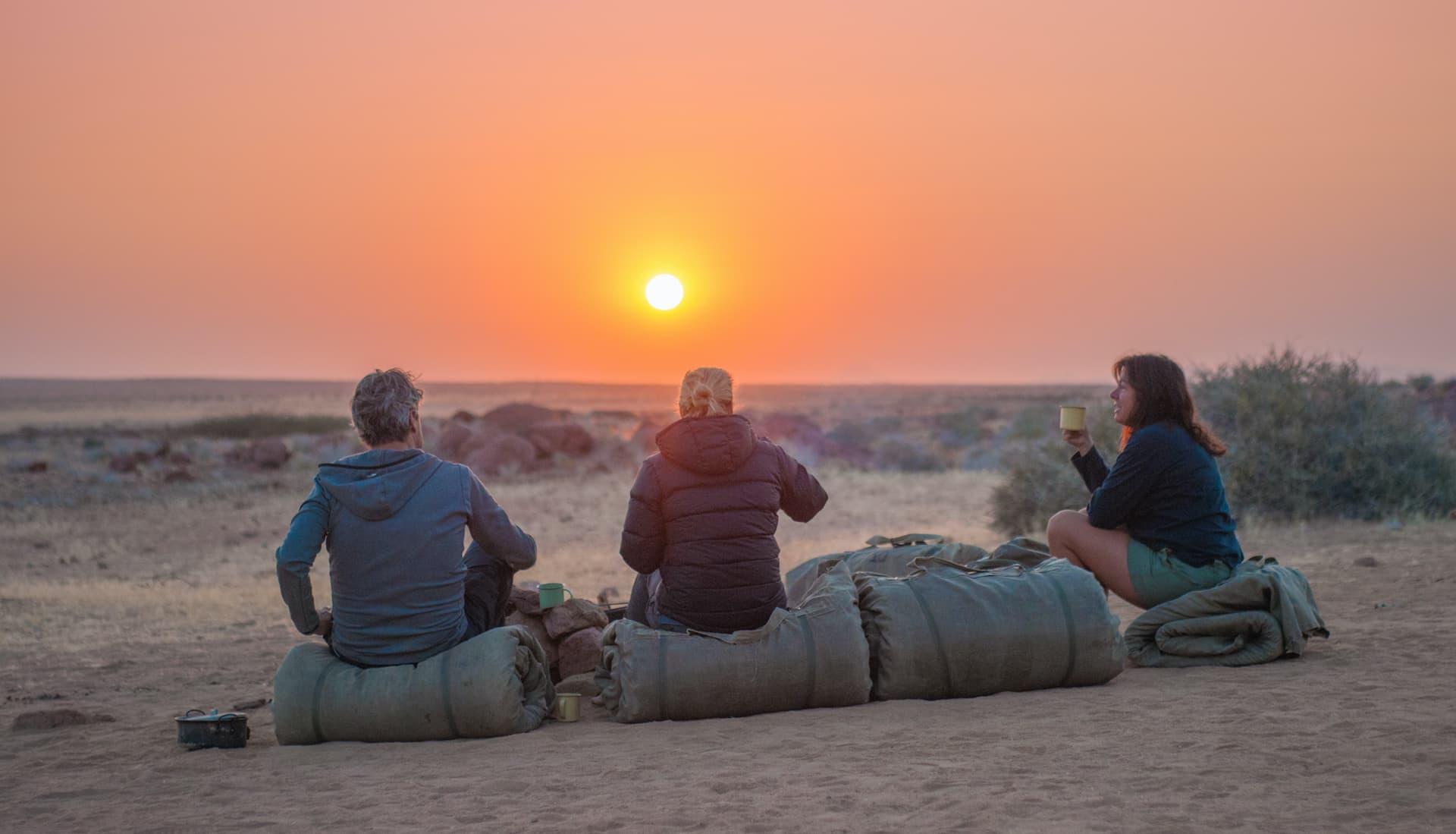 Volunteers in the desert in Namibia